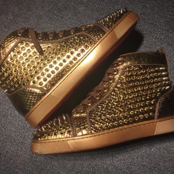 on sale 9a245 e3928 Christian Louboutin Louis Spikes Orlato Artic Gold Boutique